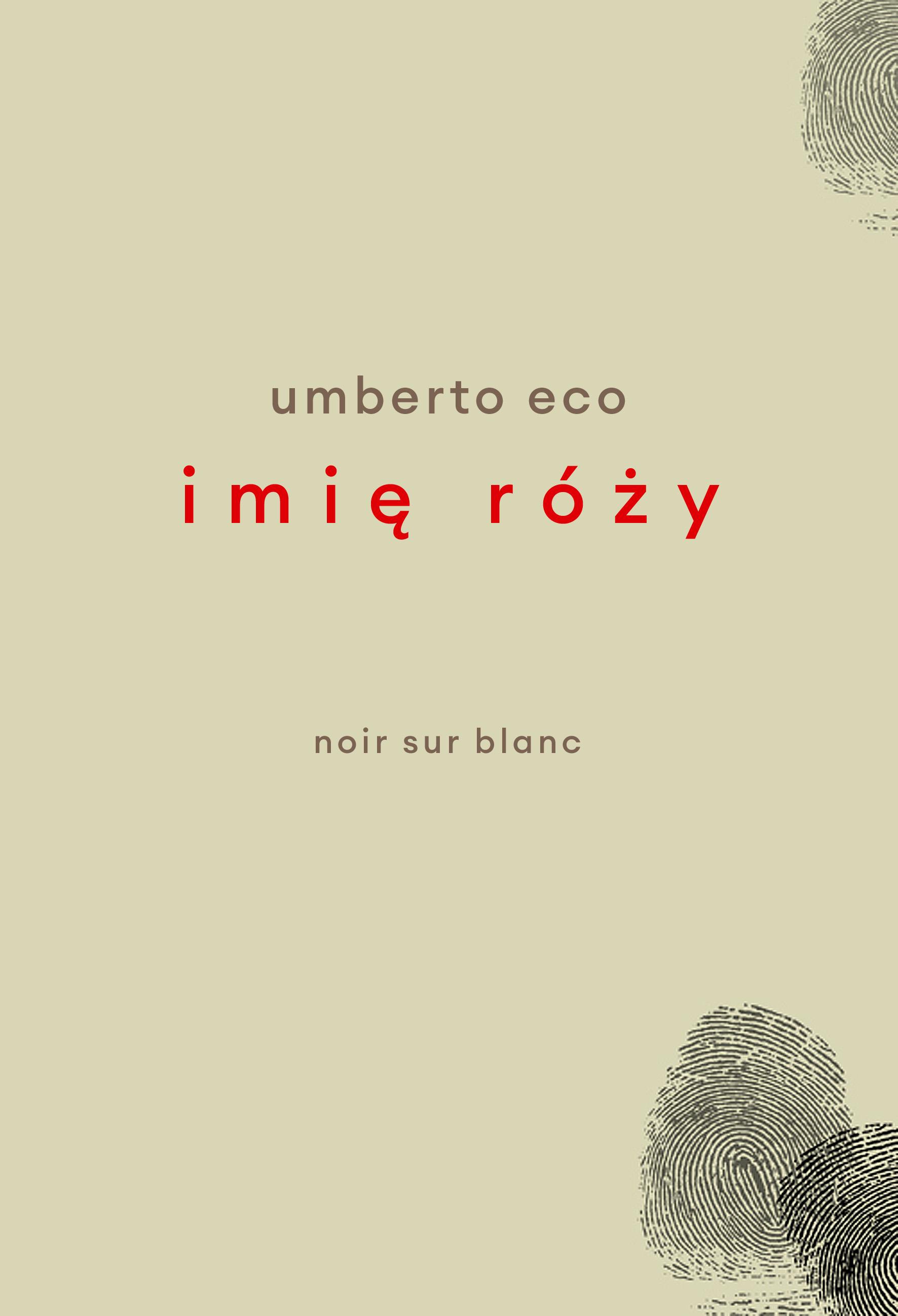 Imię róży. Wydanie poprawione przez autora